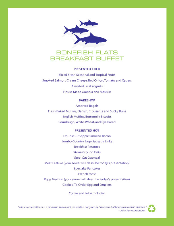 Bonefish Flats Buffet Breakfast