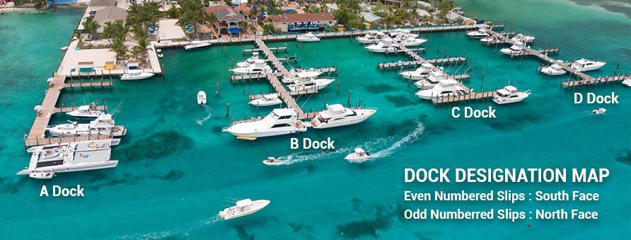 Dock Designation Map of Bimini Big Game Club Resort