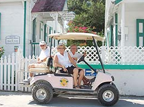 Green Turtle Club Golf Cart