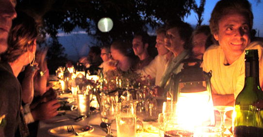 Dinner in Farm at Jakes Hotel, Jamaica
