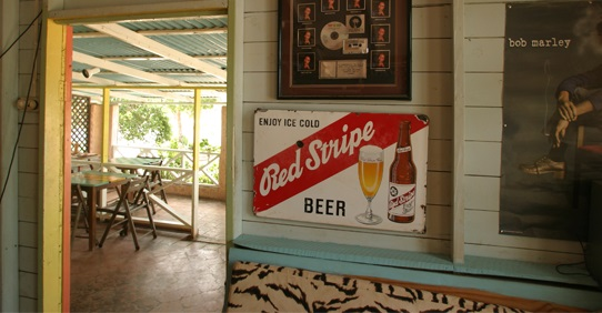 Red Strip Beer at Jack Sprat Bar at Jakes Hotel, Jamaica