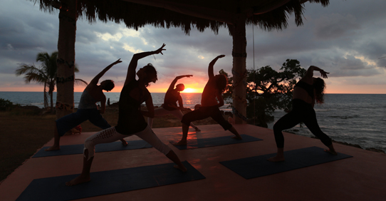 Yoga Practice at Jakes Hotel, Jamaica