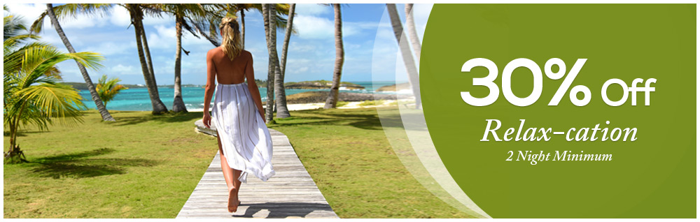 Relax-ation 30% offer on 2 Night Minimum Stay