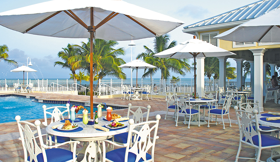 Dining at Guy's Beachside Bar & Grill
