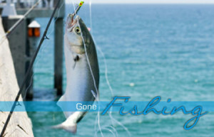 fishing rods & snorkel gear