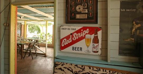 Red Strip Beer at Jack Sprat Bar at Jakes Hotel, Jamaica