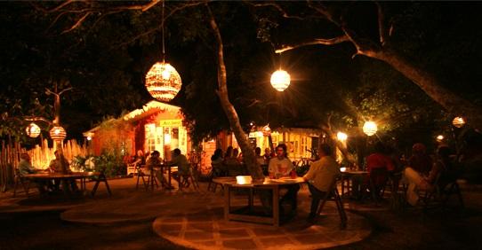 Dining at Jack Sprat Bar, Jakes Hotel, Jamaica