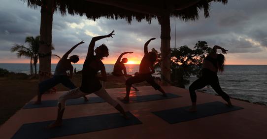 Yoga Practice at Jakes Hotel, Jamaica