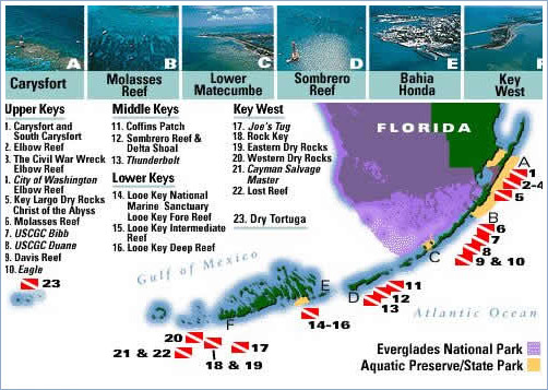 Florida Hotel Map.Lime Tree Bay Hotel Florida Keys West Local Dive Map